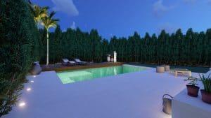 casa sabatini piscina